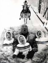 Alfred Hitchcock and nephews, 1960