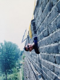 Julian at Great Wall of China in 1996 (Qinhuangdao)