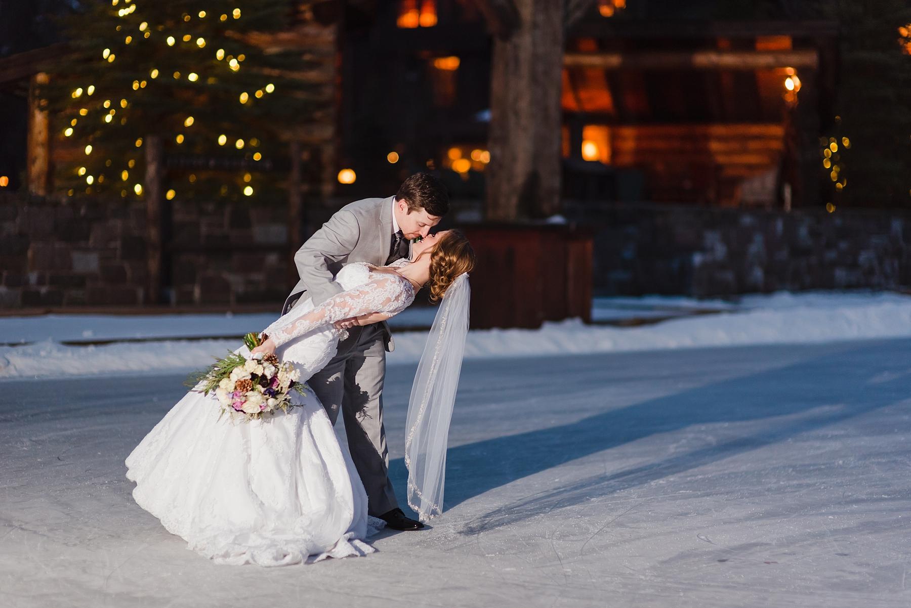 sparkling lake placid winter wedding - julia rebecca
