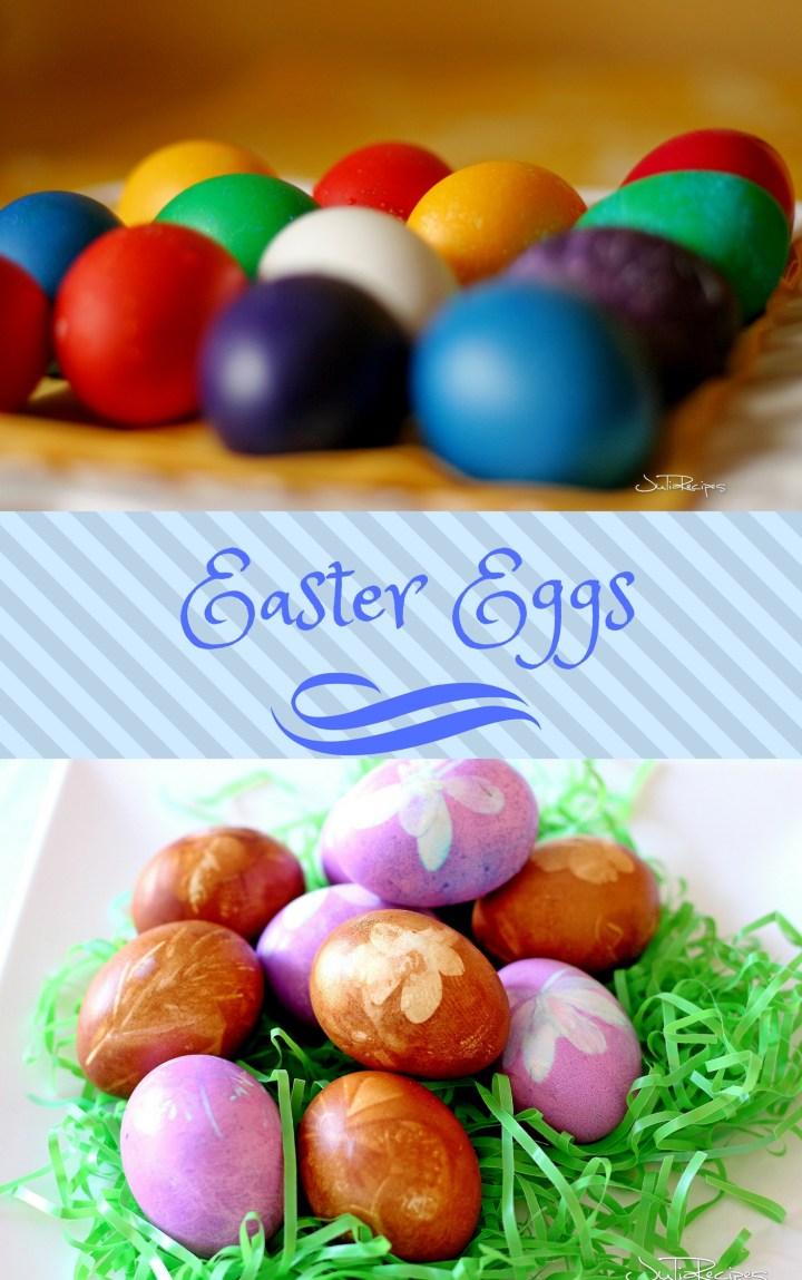 Easter coloured eggs