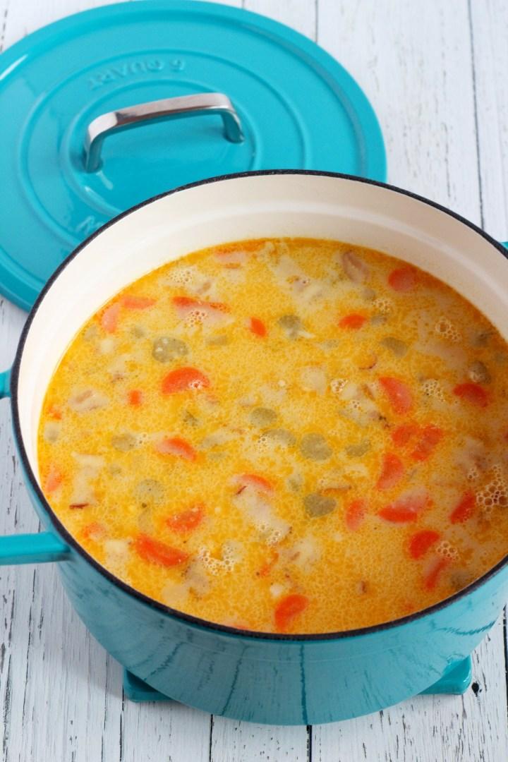 white fish soup