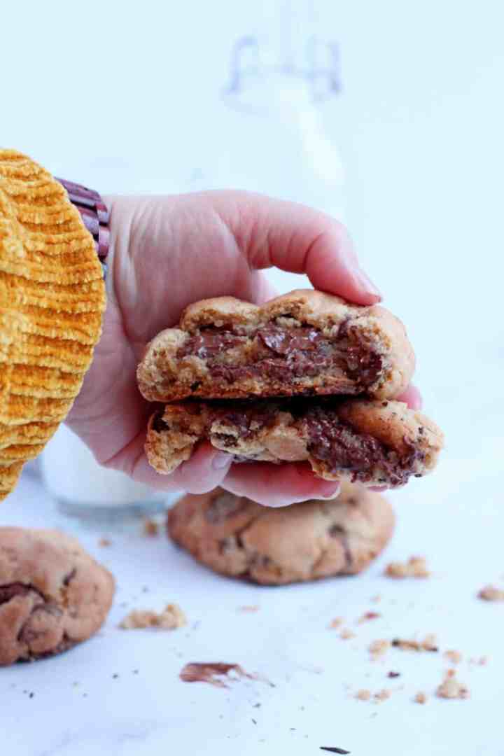 New York Levain bakery style chocolate chip cookies