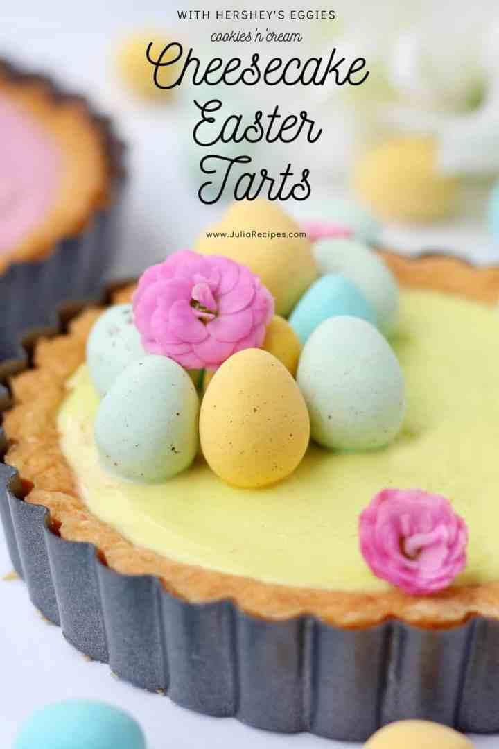 cheesecake easter tarts