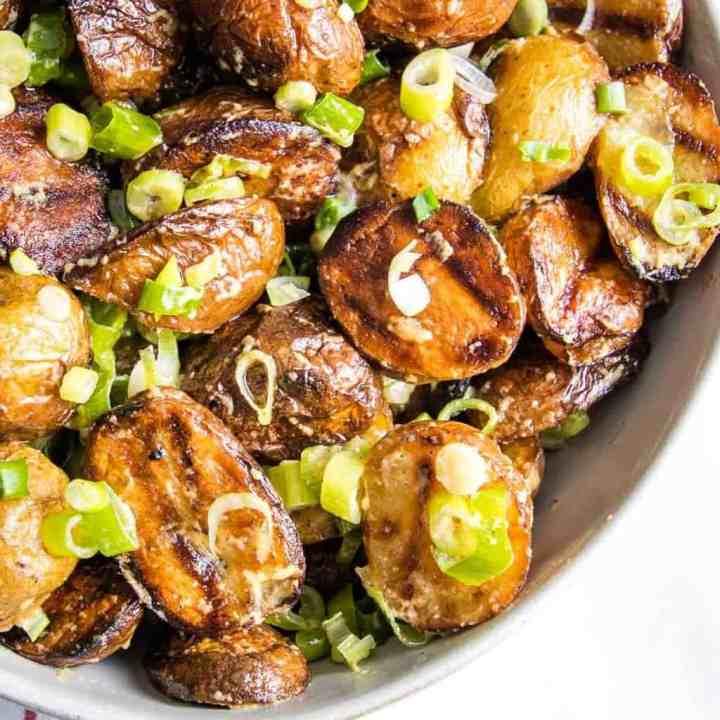 potato salad on grill