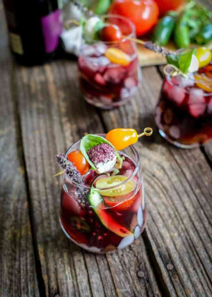Red wine bloody mary