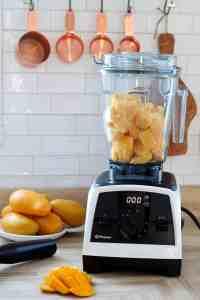 frozen mango chunks in vitamix blender