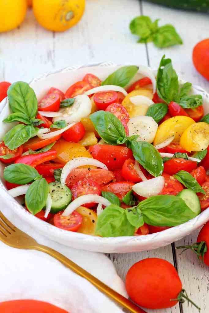 colorful tomato salad