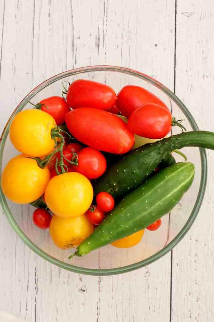 fresh vegetables from my garden