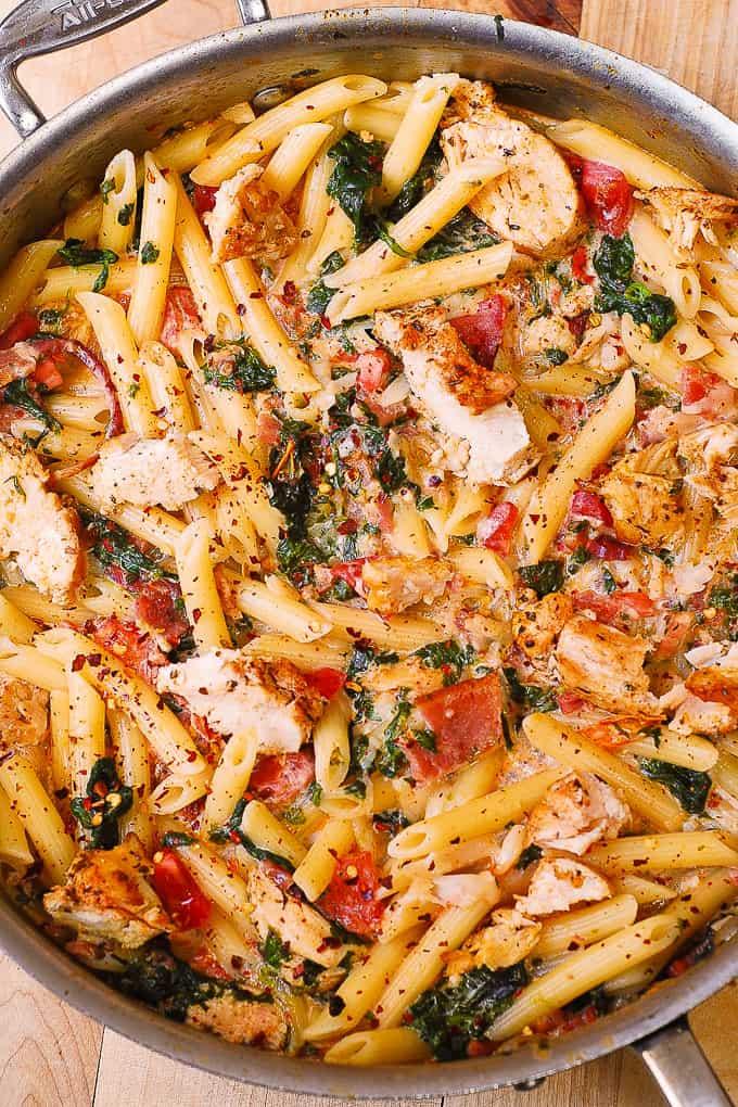 Garlic Pasta Tomato Chicken Cheese Penne