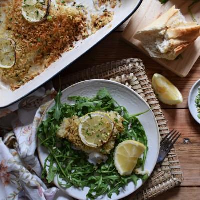 Lemon Crusted Baked Cod