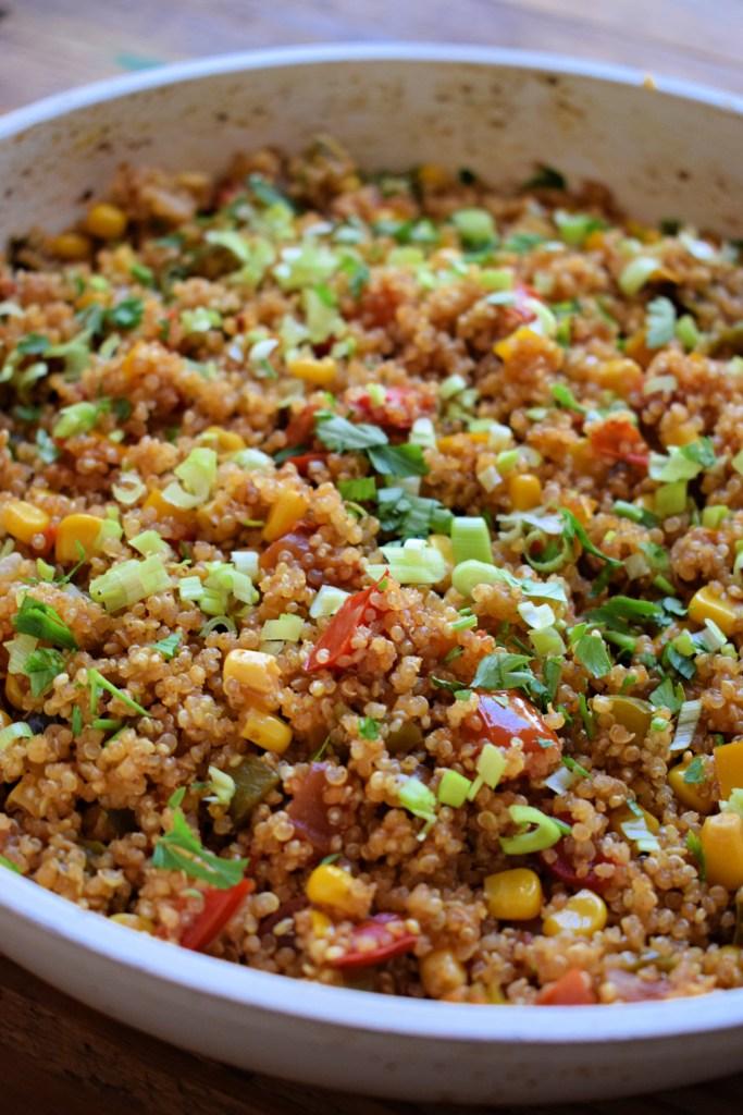 close up of Southwestern Style Quinoa