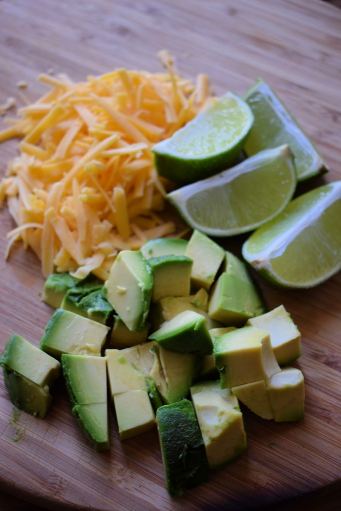 Avocado, cheese and limes