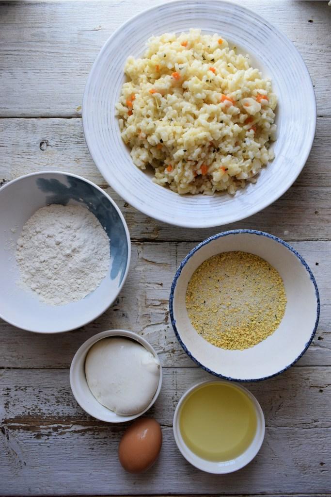 Ingredients to make Arancini