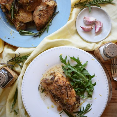 Slow Cooker Lemon and Rosemary Chicken