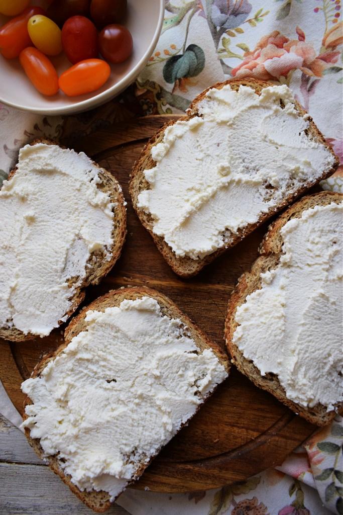 ricotta cheese on toast