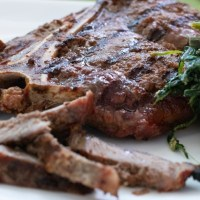 ANCHOVY GARLIC CRUSTED STEAK