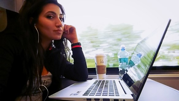 JuliaSomething traveling by train