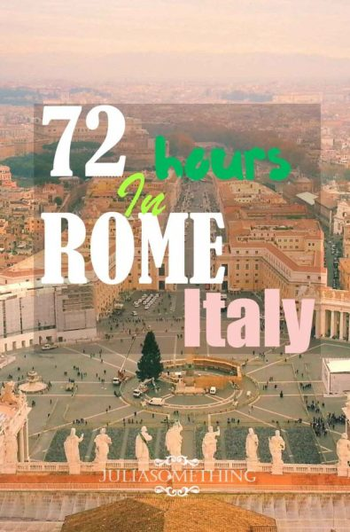72 hours in Rome, Italy pin