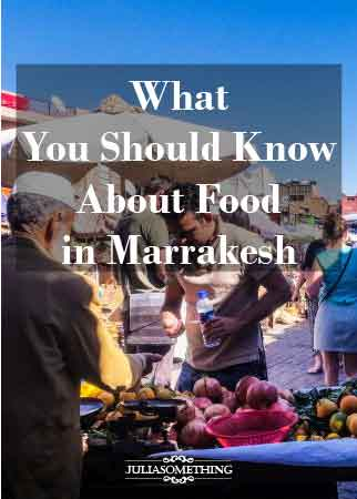What You Should Know About Food in Marrakesh pin ready Jamaa el Fna food stalls