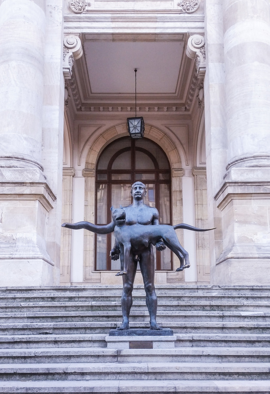 Traian's statue Questo discover people, places and stories Bucharest Romania