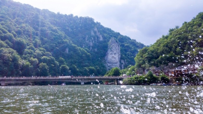 Decebal's rock sculpture in Romania