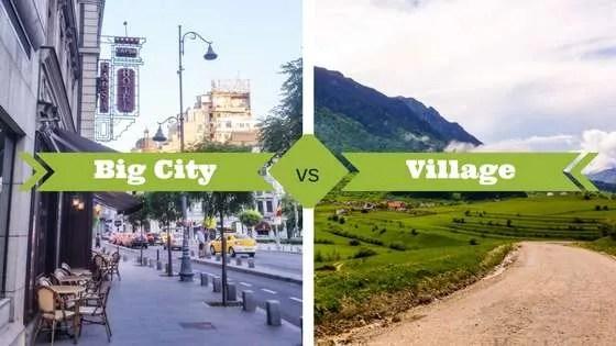 Big City vs village