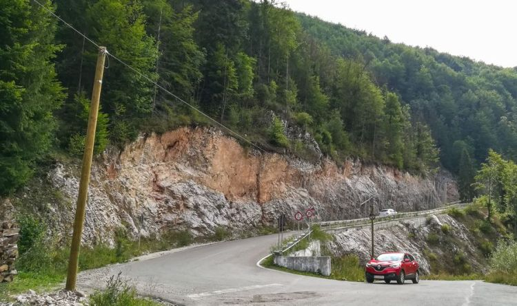 Scarisoara Cave, the glacier of Romania road