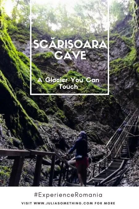 Scărișoara Cave stairs pin