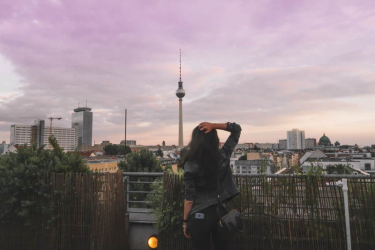 How to miss your Train in Berlin. Wombats City Hostel Berlin rooftop view.
