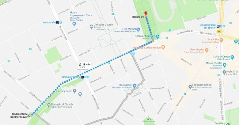 mauerpark berlin map