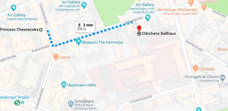 clarchens ballhaus. Self guided walking tour central berlin
