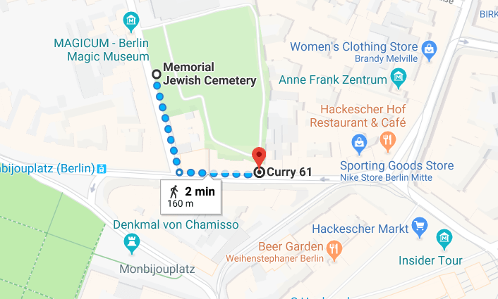 curry 61 self guided walking tour central Berlin