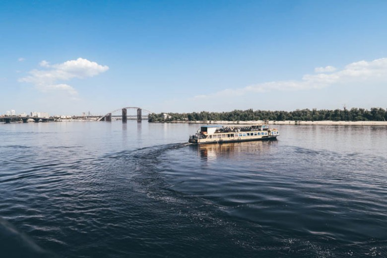 A boat ride on the Nipru river visit kiev ukraine