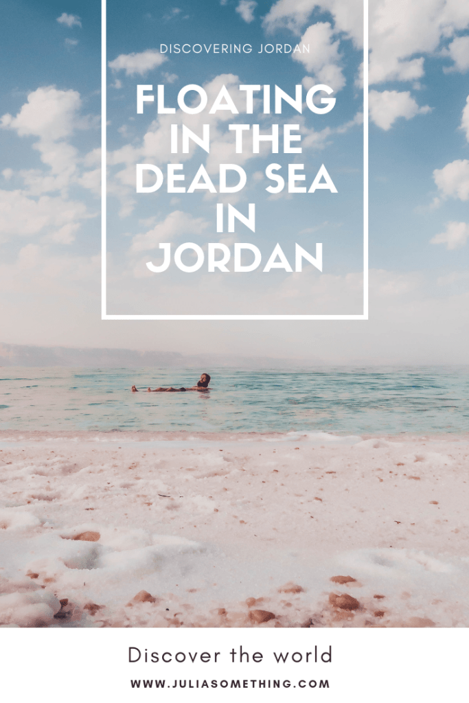 Floating in the Dead Sea in Jordan! #Jordan #DeadSea #MiddleEast #Travel #salt #floating