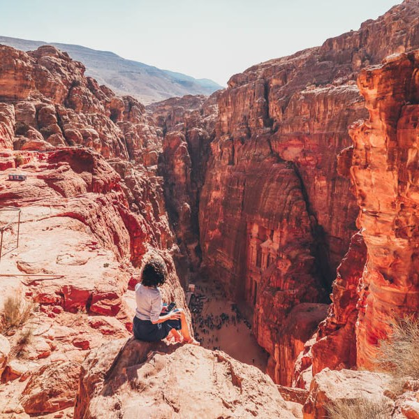 visiting petra for the first time