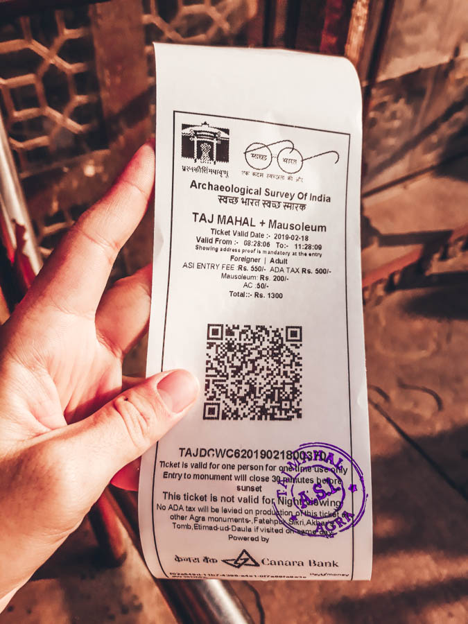 visit taj mahal ticket price