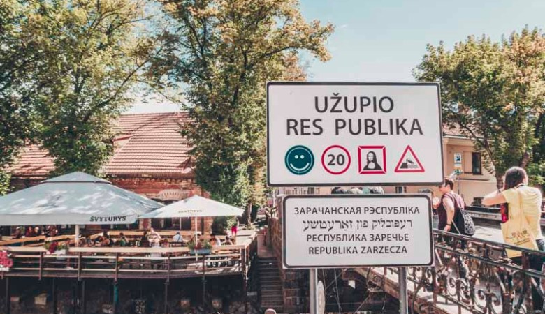 Bridge Užupis Republic what you need to see in Vilnius in 1 day cheapest countries in europe