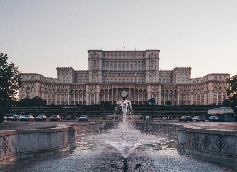 51 Most Instagrammable Places in Bucharest Casa poporului Palatul Parlamentului Palace of Parliament House of the people Bucharest Romania What to see in Romania