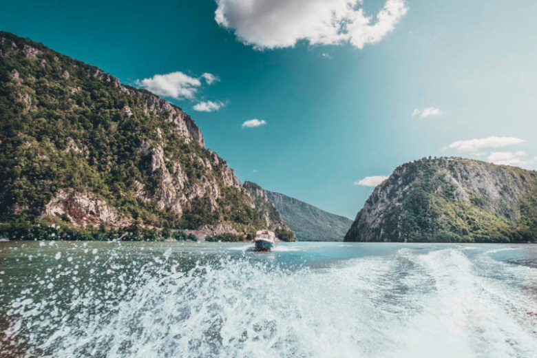 Bucharest to Danube valley road trip places to see in romania cazanele dunarii Danube gorges Dobova motor boat tour