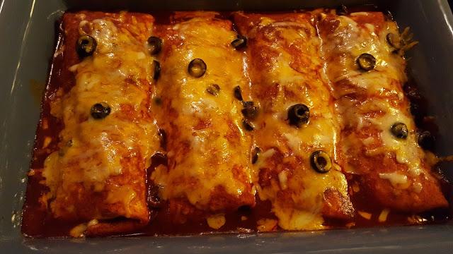 Baked burrito enchiladas