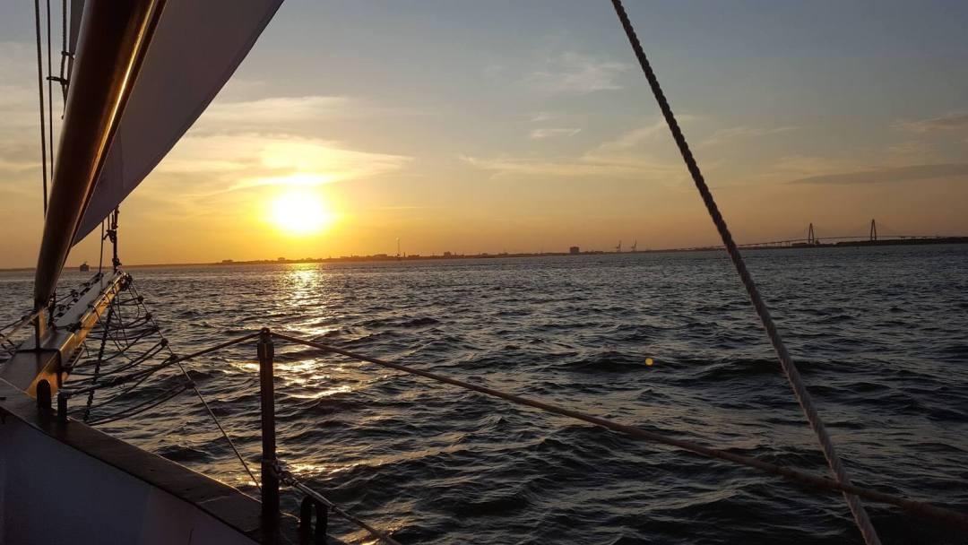 Sunset cruise in Charleston harbor
