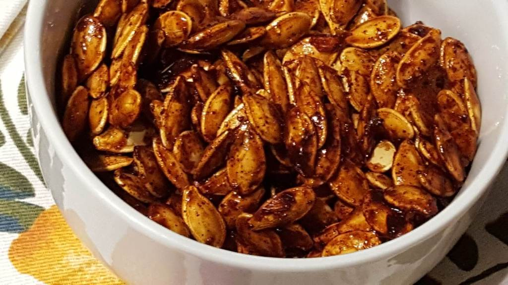 Delicious glazed Roasted Pumpkin Seeds
