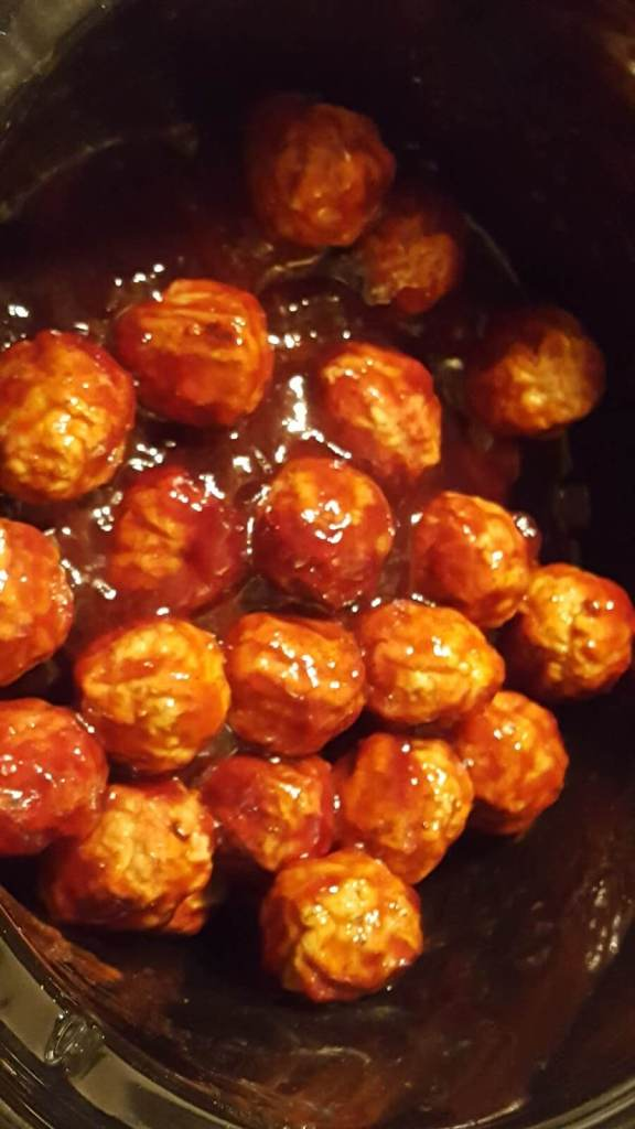 Crock Pot meatball appetizers