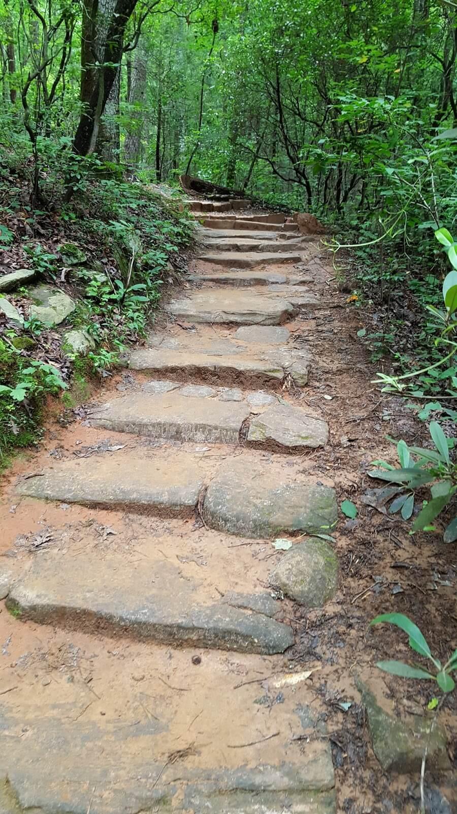Stone steps on Carrick Creek trail - one hour hike in SC