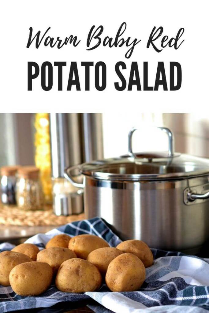 Recipe for a warm baby red potato salad
