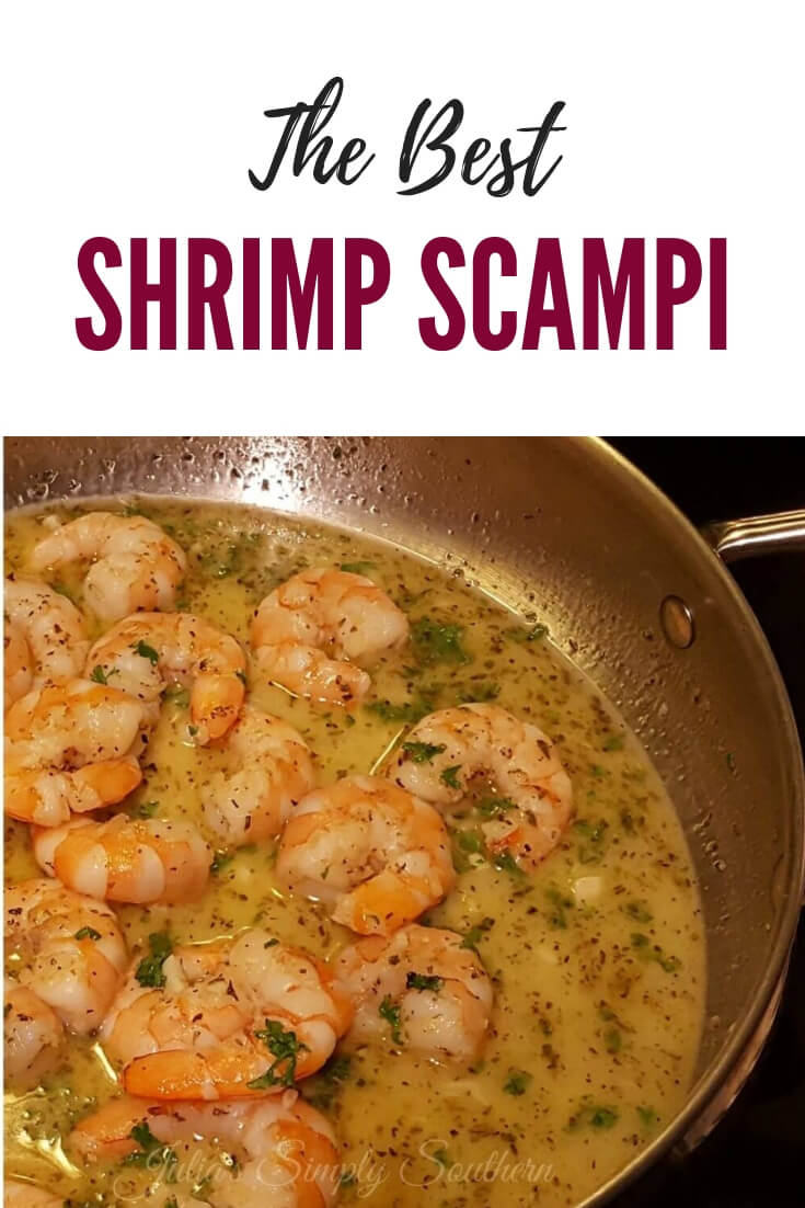 Better than restaurant Shrimp Scampi recipe. This quick seafood recipe comes together in just minutes. Serve with pasta or crusty bread. #Seafood #shrimp #EasyRecipes