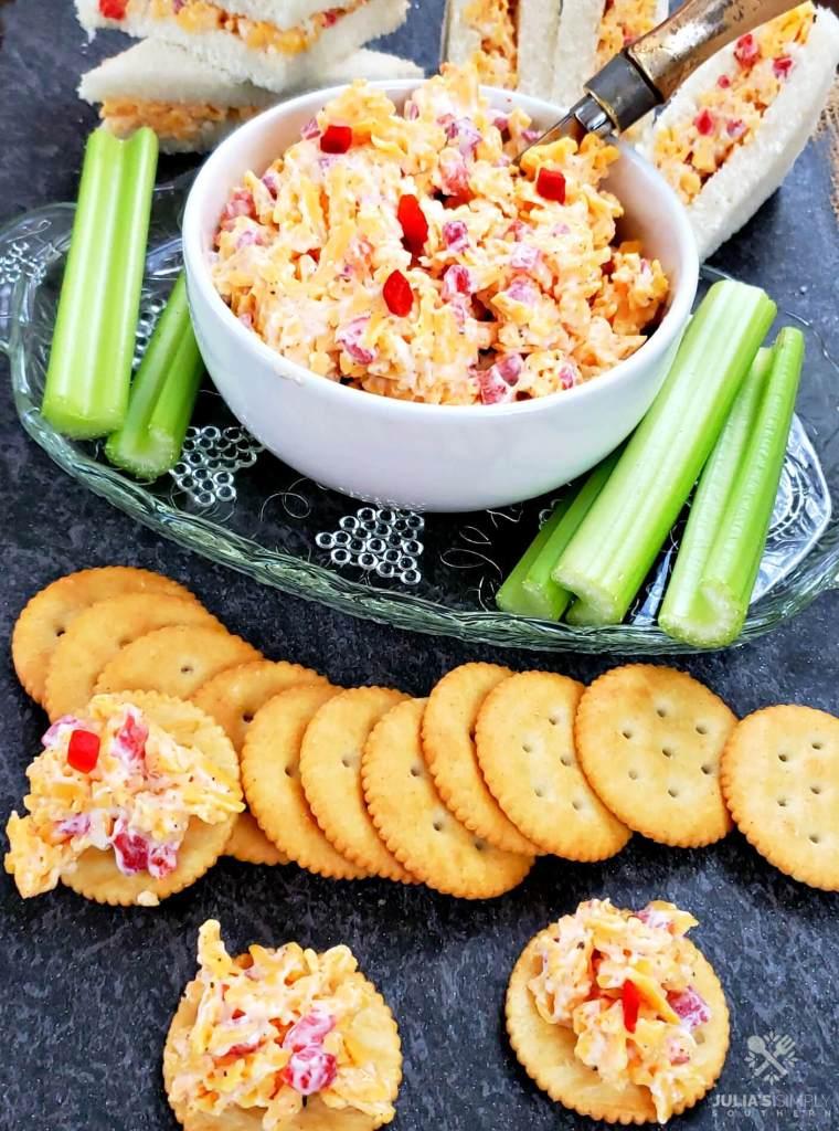 Pimento cheese sandwiches and cracker spread recipe