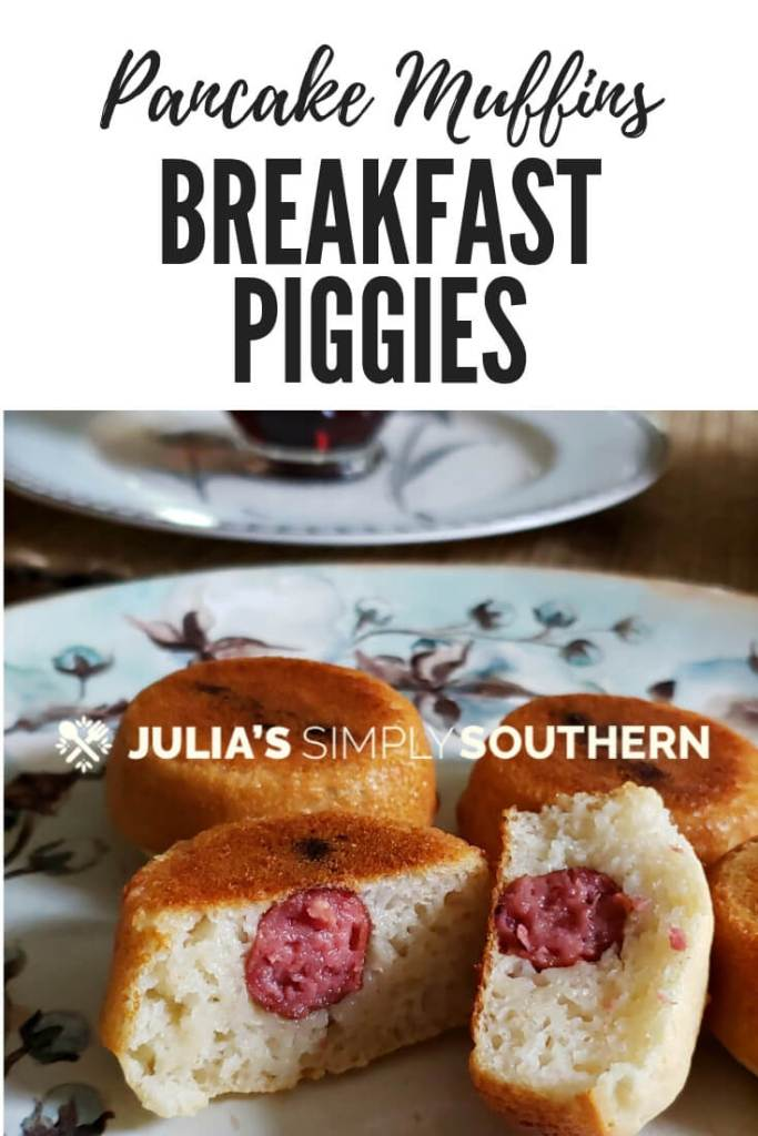 Breakfast pigs in a blanket with pancake batter. Perfect for quick and easy breakfast on the go. Serve with maple syrup if desired. #breakfast #kidfriendly #breakfastpiggies #SouthernFood