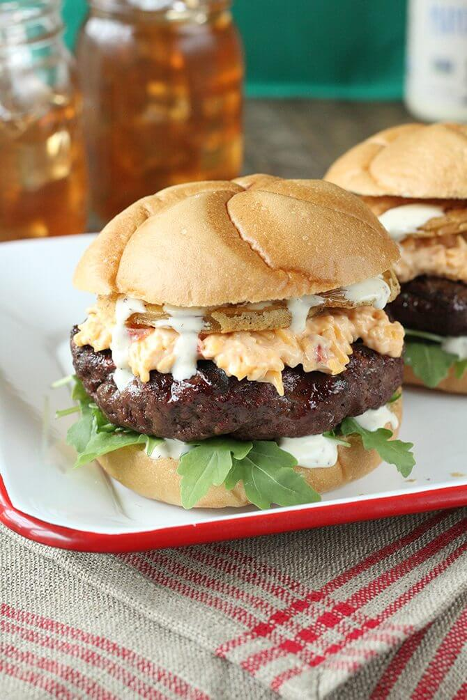 Pimento Cheese Southern Burger: Southern Bite