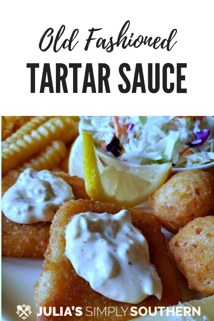 Homemade tartar sauce recipe with capers and dill is the classic condiment for seafood. This tangy sauce is better homemade. Delicious for fish Friday or use it as a sandwich spread #tartersauce #Lent #FishFriday #EasyRecipe
